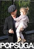 David Beckham and Harper Beckham had a day together in London.