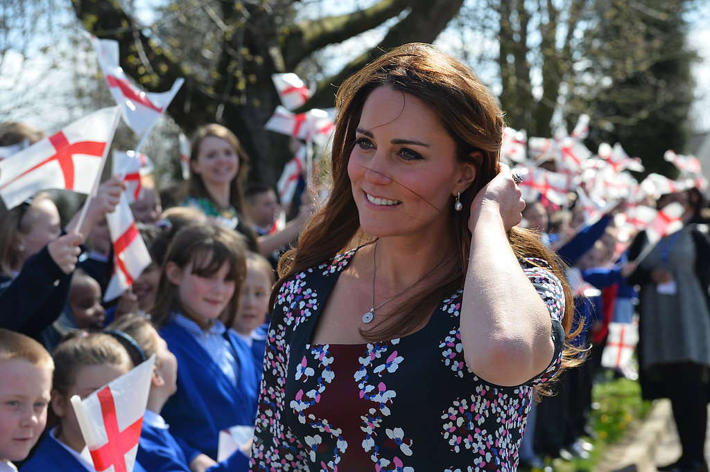 Kate Middleton Puts Her Growing Baby Bump on Display at a School Visit