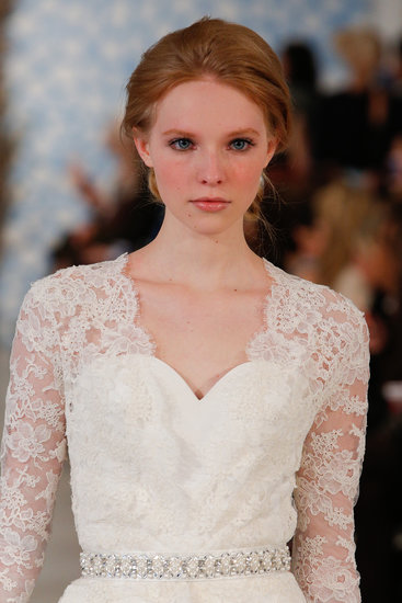 "The look for Oscar de la Renta's show was a fairy tale. ""This is what women dream of on their wedding day,"" Castillo said. ""Not to look like a walking art installation, but to look graceful."""