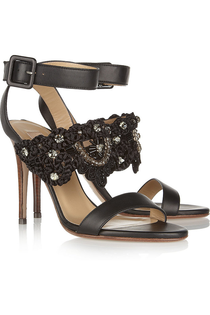 Valentino embroidered leather sandals ($345, originally $985)