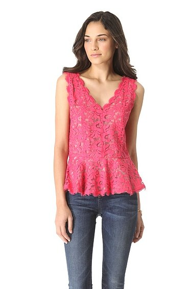 Use this Madison Marcus Lace Sleeveless Peplum Top ($285) to dress up jeans for a night out or pair with a slim pencil skirt for cocktails.