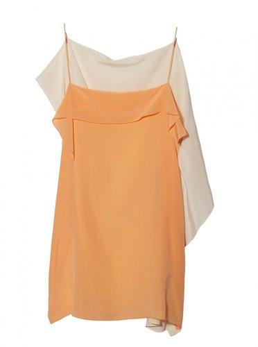 3.1 Phillip Lim String Strap Kite Top In Faded Orange / Ecru