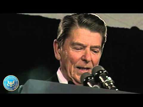 Ronald Reagan Pokes Fun at the Media