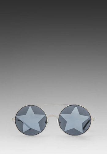 Wildfox Couture Starstruck Mirrored Sunglasses in Silver/Silver