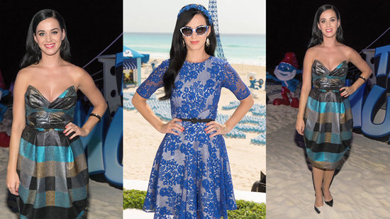 Katy Perry Channels Her Inner Smurf in Two Blue Looks