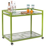 Bring the Derby aesthetic to your barware with this bright green bar cart ($963) — the perfect place to store your mint julep ingredients!