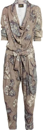 Vivienne Westwood Anglomania Protection printed crepe jumpsuit