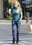Britney Spears stopped for coffee in LA.