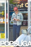 Ed Westwick left an LA gas station.