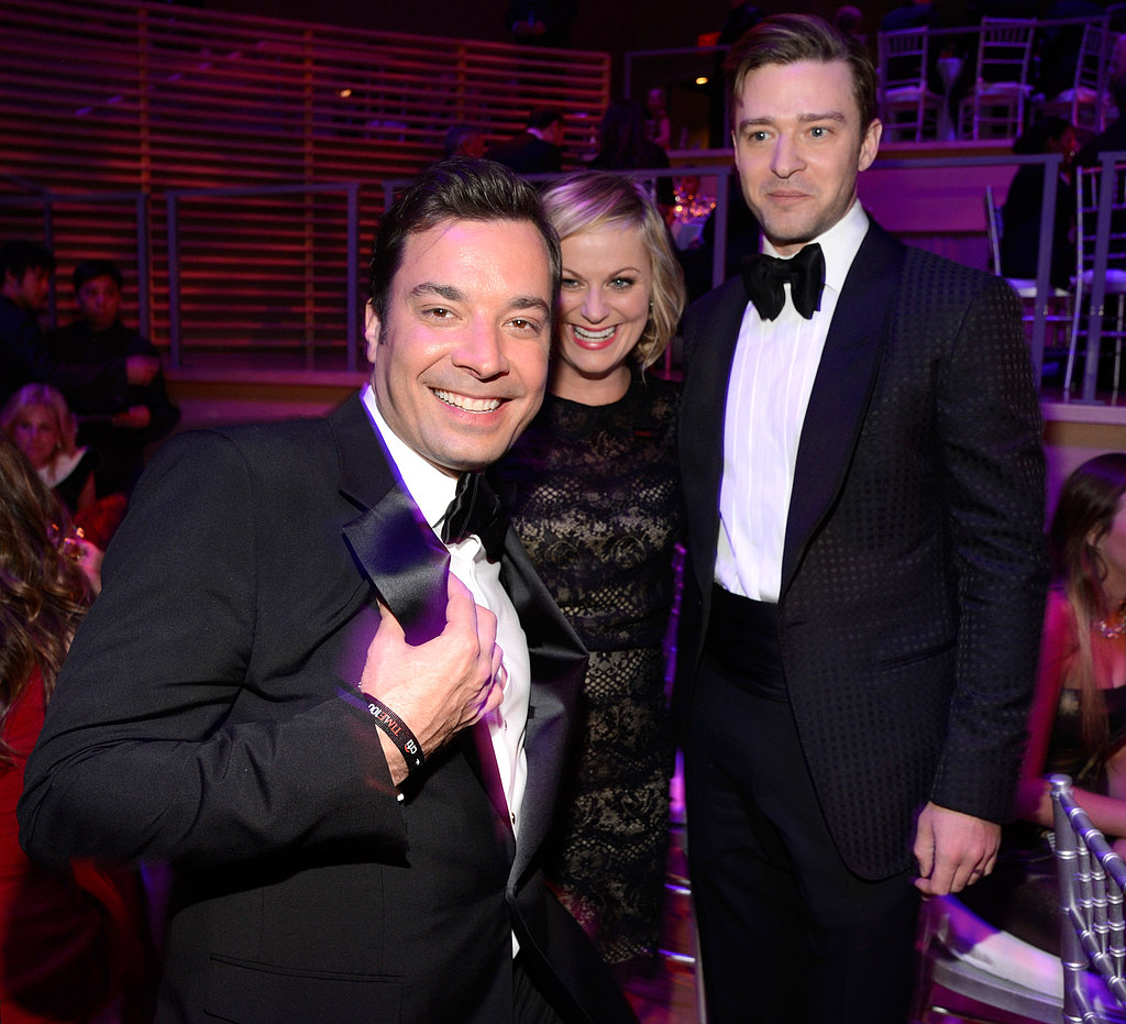 Jimmy Fallon, Amy Poehler, and Justin Timberlake joked around.
