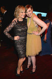 Amy Poehler and Lena Dunham struck a pose for the camera.