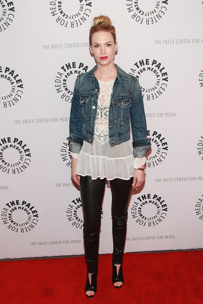 January Jones went casual for the chat at The Paley Center for Media.