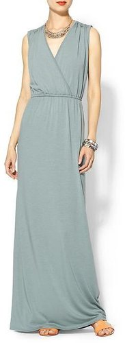 Sabine Knit Wrap Maxi Dress