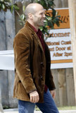 Jason Statham was all smiles on Monday amid filming for Heat in New Orleans.