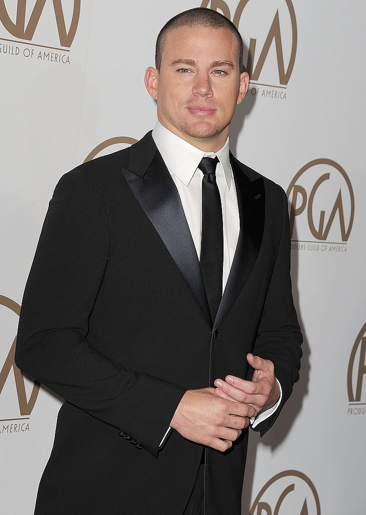 Channing Tatum went black tie for the January 2013 Producers Guild Awards in LA.
