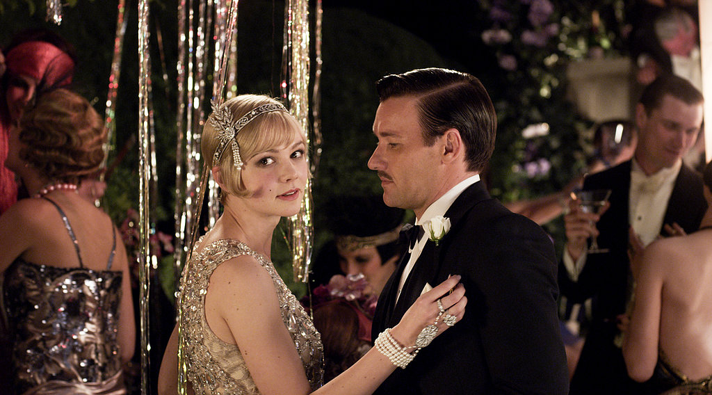 Carey Mulligan as Daisy Buchanan and Joel Edgerton as Tom Buchanan in The Great Gatsby.