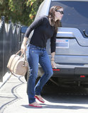 Jennifer Garner picked up her girls on Thursday.