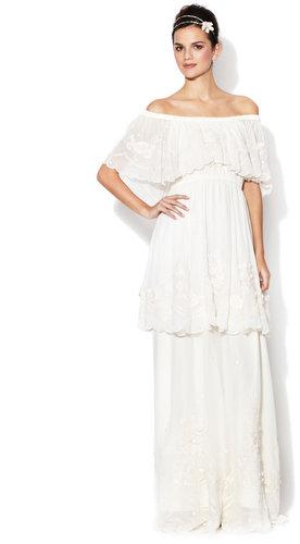 Dulcinea Off Shoulder Tiered Gown