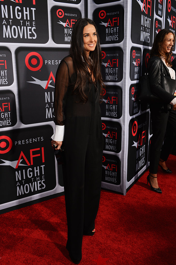 Demi Moore wore Alexandra Mor rings on the red carpet.