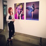 Coco Rocha checked herself out at James Houston's Natural Beauty exhibit in NYC. Source: Instagram user cocorocha