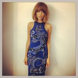 Nicole Richie showed off a gorgeous blue embellished dress before her appearance on Chelsea Lately. Source: Instagram user nicolerichie