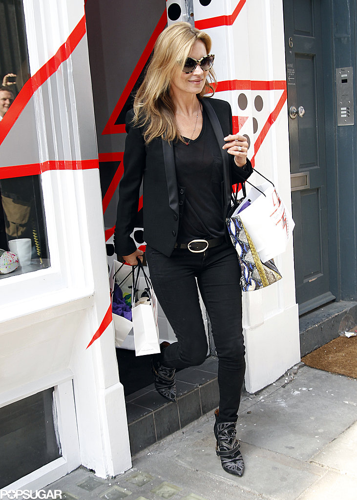 Kate Moss attended a store opening.