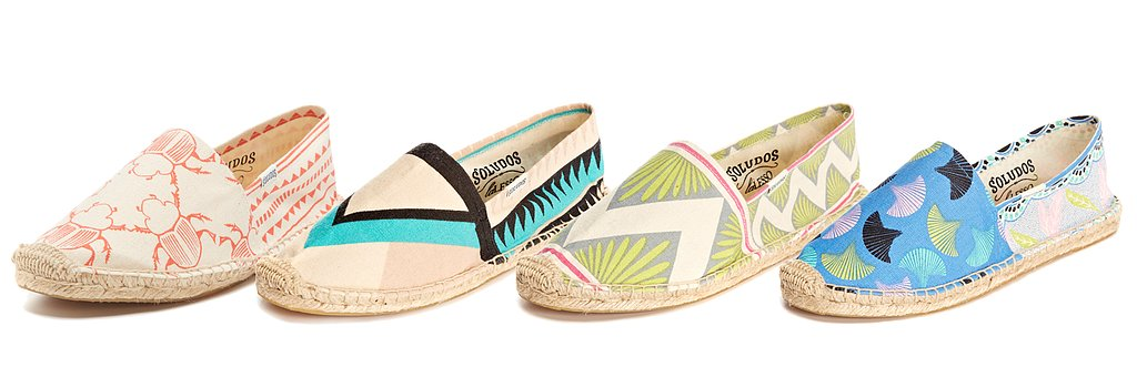 Soludos has released its latest espadrille collaboration, and it's with African brand Lalesso. In effect, we're privy to bright patterns — inspired by sarongs worn by Swahili women in East Africa — and that covetable summery sole that goes with just about everything come hot weather. Take a look at all the styles here!