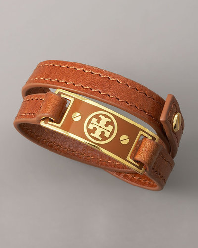 Tory Burch Logo Wrap Bracelet, Brown