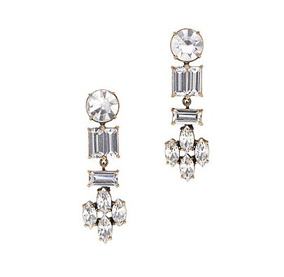 The easiest way to channel a little '20s glam? Throw these J.Crew Crystal Shapes Earrings ($68) on with just about anything.