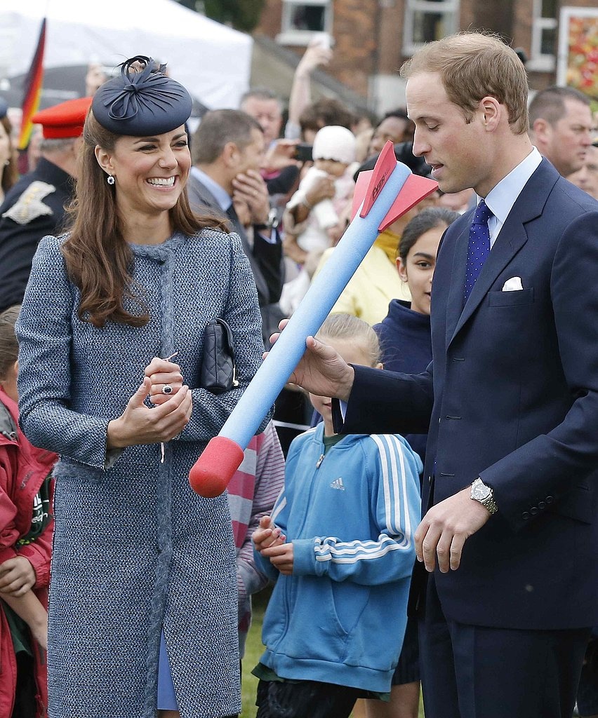 Kate Middleton cracked up while Prince William goofed around on a June 2012 visit to Nottingham, England.