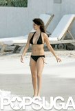 Penélope Cruz wowed in a black string bikini while spending time in St. Barts in January 2006.