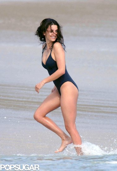 Penélope Cruz made a statement while running through the water during a January 2007 trip to St. Barts.
