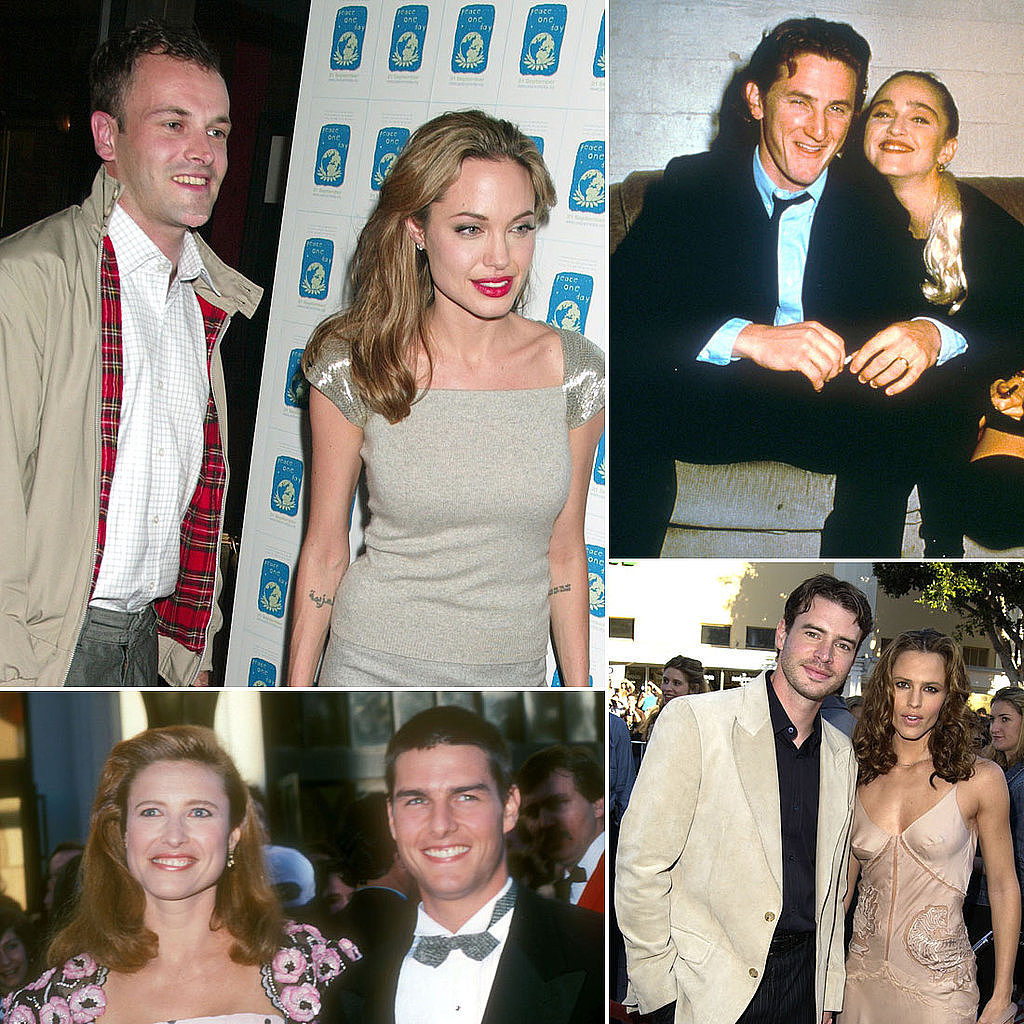 Remember Angelina Jolie's first husband, Jonny Lee Miller, or Jennifer Garner's onscreen romance-turned-marriage to Scott Foley? POPSUGAR Celebrity has rounded up a bunch of surprising celebrity nuptials, so head over to jog your memory!