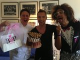 The X Factor's Ronan Keating and Redfoo received delicious sweet treats from Darren Purchese. Source: Twitter user ronanofficial