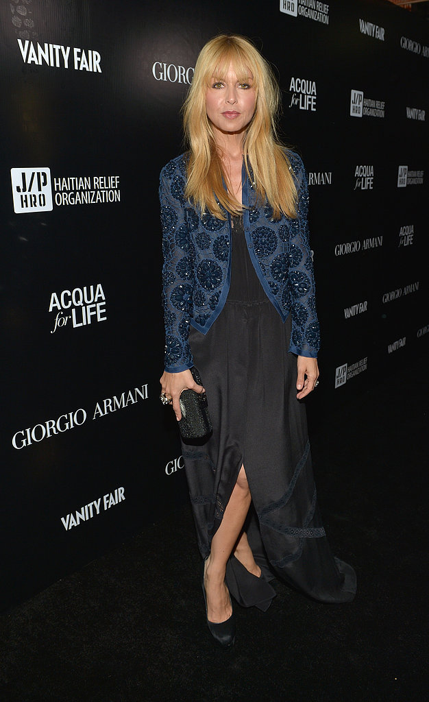 Rachel Zoe wore a black gown.