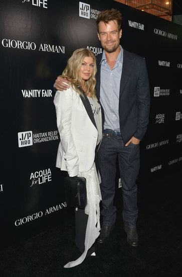 Fergie and Josh Duhamel attended the art bash.
