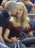Shakira and Gerard Piqué showed PDA.