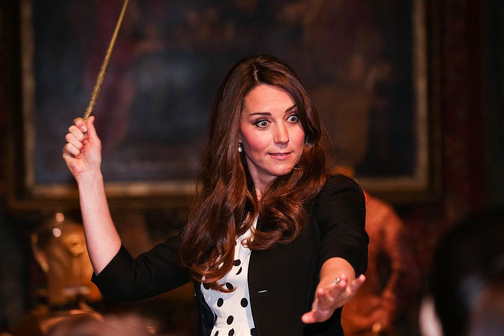 Kate Middleton played with her Harry Potter wand.