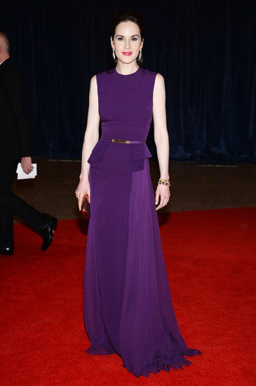 Michelle Dockery wore Elie Saab to the 2013 White House Correspondents Dinner.