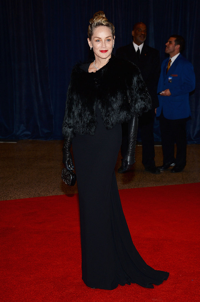 Sharon Stone attended the 2013 White House Correspondents Dinner.