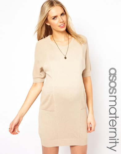 ASOS Maternity Exclusive Knitted Cocoon Sweater Dress