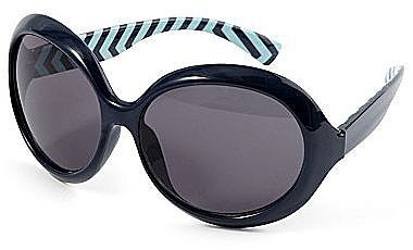 On the Verge Chevron-Print Sunglasses