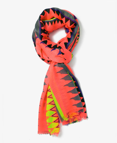 FOREVER 21 Multicolored Geo Print Scarf