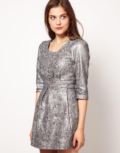 Lowie Metallic Paisley Shift Dress