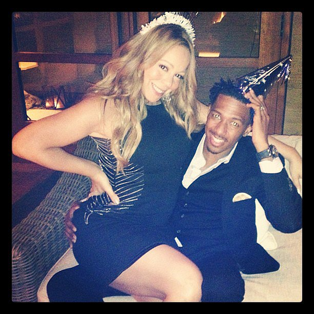 Mariah Carey and Nick Cannon celebrated his birthday in October 2012.  Source: Instagram user mariahcarey
