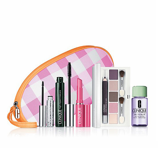 Clinique's Makeup Value Set in Pretty Pinks and Plums ($40) is an instant makeup-bag makeover for Mom.
