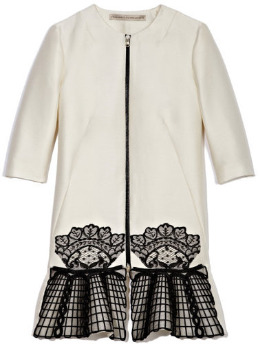 Francesco Scognamiglio Lace Embroidered Car Coat