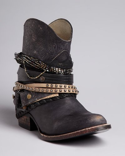 FREEBIRD by Steven Western Booties - Mezcal Strapped