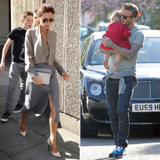 Victoria Talks Family and Fashion as David and Harper Have Stylish Encounter