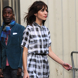 Alexa Chung Wears Plaid Paul Smith Dress